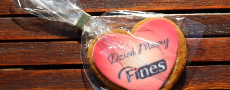 Ciasteczko korzenne/miodowe w kształcie serca z nadrukiem, min. 50 szt.