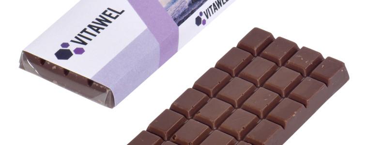 Mała czekolada w etykiecie, min. 500szt.