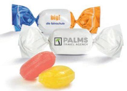 Cukierki reklamowe z nadzieniem z nadrukiem 1-4k, min. 25kg