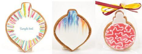 Ciasteczka miodowe/piernikowe bombki z logo, min. 50 szt.