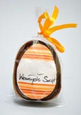 Czekoladowe ciastko jajko z nadrukiem reklamowym, min. 50 szt