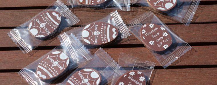 Małe czekoladki wielkanocne z logo, min. 500szt.