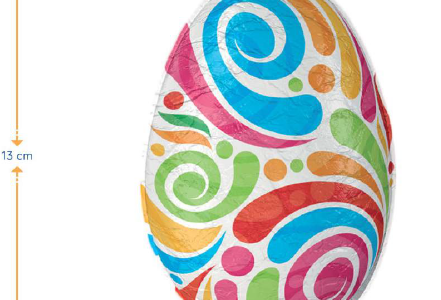 Mega jajo czekoladowe 70g, 13cm, min. 100szt.