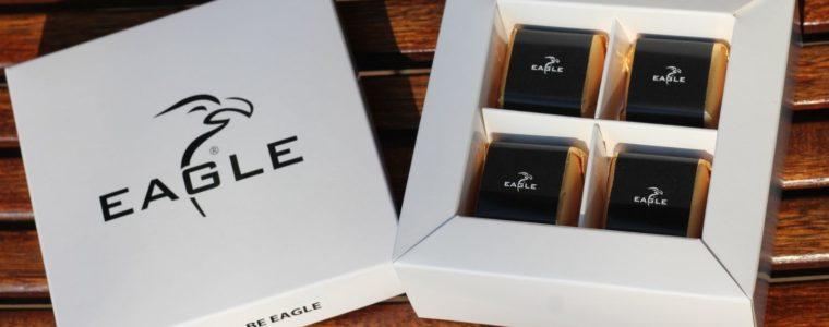 Zestaw 4 czekoladek z nadzieniem z nadrukiem w opakowaniu reklamowym, min. 25szt.