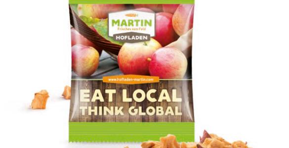 Chipsy jabłkowe flow pack 5g, min. 1 800szt.