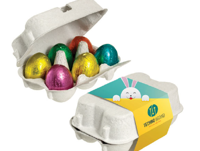 Sześciopak jajek w obwolucie, min. 250szt.