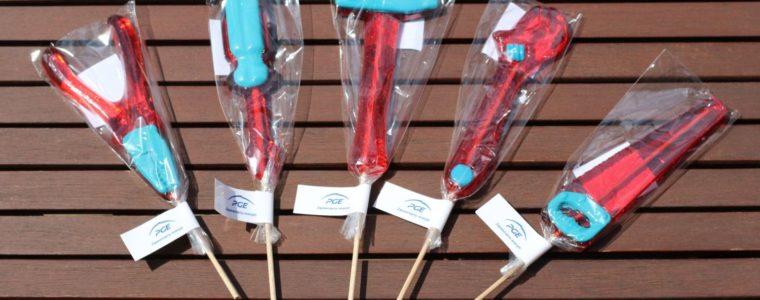 Lizaki mix narzędzia z chorągiewką, min. 100szt.