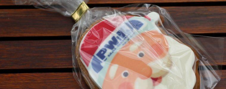 Ciasteczko miodowe/piernikowe mikołaj z logo, min. 100 szt.