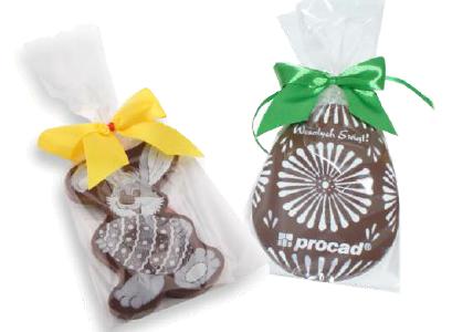 Zajączek lub jajko z nadrukiem na czekoladzie MAXI, min. 100szt.