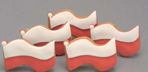 Ciasteczko z kształcie flagi, min. 100szt