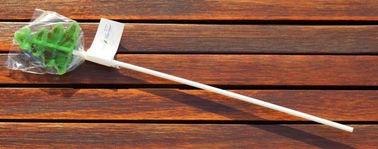 Lizak w kształcie choinki z chorągiewką, min. 500szt
