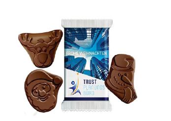 Świąteczne czekoladki z logo, min. 2500szt