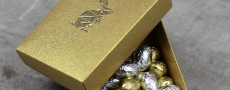 Wielkanocny box na 500g jajeczek czekoladowych! min. 50szt.