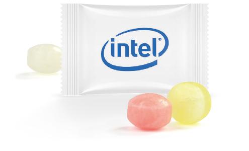 Mini cukierki flow pack z nadrukiem, min. 25kg