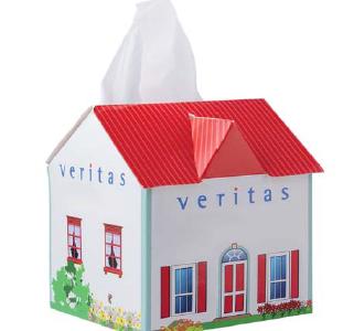 Chusteczki higieniczne w domku reklamowym, min. 500szt.