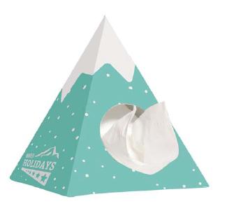 Chusteczki higieniczne w piramidce reklamowej, min. 500szt.