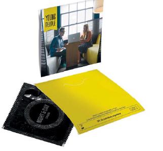 Prezerwatywa w kopertce z logo, min. 500szt