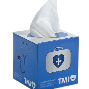 Chusteczki higieniczne w pudełku reklamowym, min. 500szt.