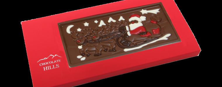 Świąteczna czekolada z logo, min. 50szt.